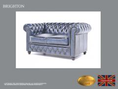 Original Chesterfield  Brand Sofa ,Wash Off Blue