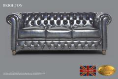Original Chesterfield Brand Sofa, 3 Seats ,Wash