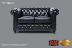Original Chesterfield Brand Classic Black Leathe