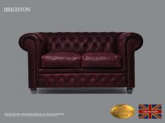 Original Chesterfield Sofa, 2 Seats , Vintage Da
