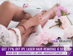 IPL Laser Hair Removal 6 Session Deal at INOA Beauty