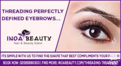 Threading Perfectly Defined Eyebrows at INOA Beauty