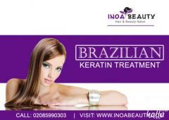Brazilian Keratin Treatment at inoa beauty Salon