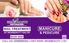 Manicure And Pedicure Treatment At Inoa Beauty Salon