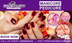 Manicure And Pedicure Treatment At Inoa Beauty Salon