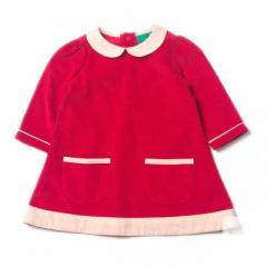 Raspberry Tunic Cord Dress Tilly & Jasper