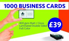 1000 Full Color Business Cards Printing Online Cardiff