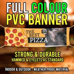Promote your business outdoors with our PVC banners