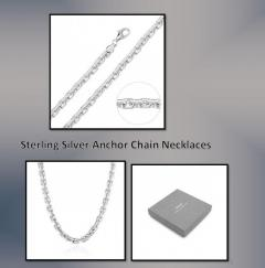 Sterling Silver Anchor Necklace with Pendant