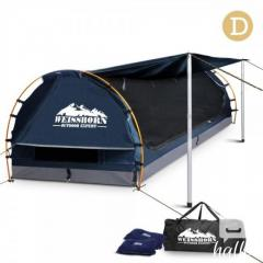 Double Camping Canvas Swag With Mattress And Air