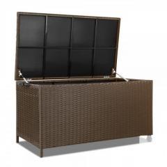 Kitchen Storage-Wicker Outdoor Storage Box Dark