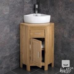 Alta Solid Oak Single Door Vanity Cabinet