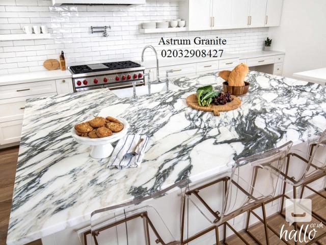 Buy Arabescato Vagli Marble Kitchen Worktop in London 3 Image