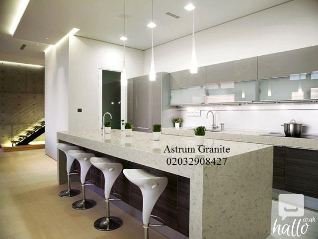 Top Quality White Galaxy Quartz Kitchen Worktop in UK 3 Image