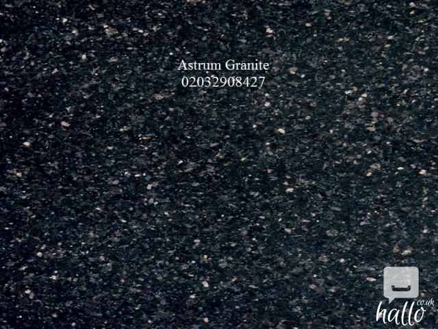 Buy Absolute Black Flamed Granite Kitchen Worktop in UK 4 Image