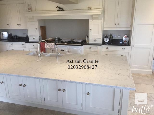 Buy Online Best White Galaxy Quartz Kitchen Worktop 3 Image