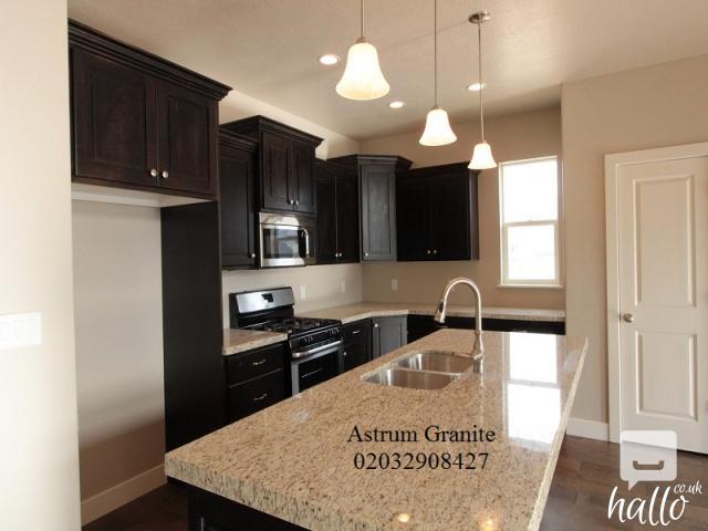 Buy Best Ambar White Granite Kitchen Worktop in London 3 Image