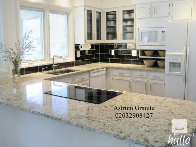 Buy Best Ambar White Granite Kitchen Worktop in London 4 Image