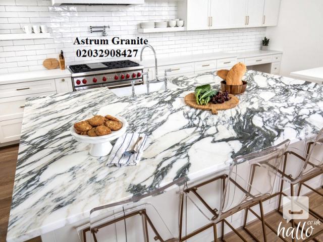 Buy Online Arabescato Corchia Marble Kitchen Worktop UK 5 Image