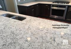 Ambar White Granite Kitchen Worktops in London