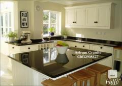 Absolute Black Flamed Granite Kitchen Worktop for Home
