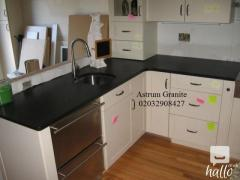 Buy Absolute Black Honed Granite Kitchen Worktop in UK