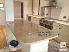 Online Arctic Cream Granite Kitchen Worktop in London