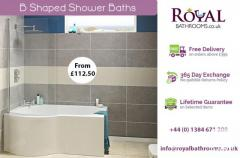 B Shaped Shower Bath For Sale In Uk