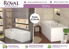 Different Shapes And Size Royal Bath Available