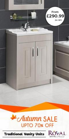 Now Up to 70 Sale in Autumn on Traditional Vanity Unit