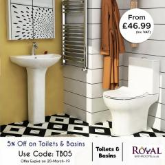 5Percent Discount On Combined Toilet And Basin V