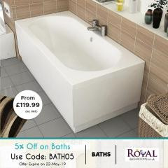 On Ideal Standard Baths you can get 5 Extra Discount