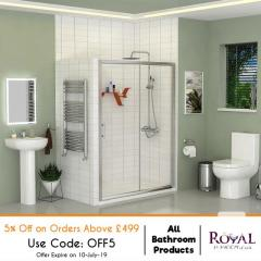 All Bathroom Products 5Percent Off on Orders Above 499