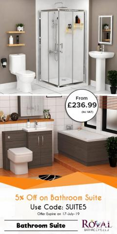 Mega Saving 5 Discount Offer on Shower Bath Suites