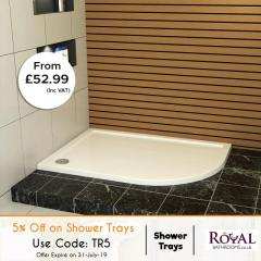 5Percent Off On Shower Tray Sizes