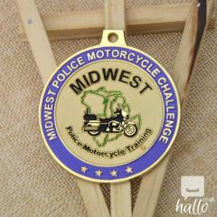 Police Motorcycle Training Custom Medals