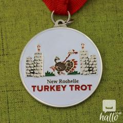 Cheap Medals - Turkey Trot Customized Run Medals