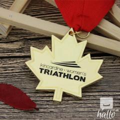 Womens Triathlon Custom Made Medals