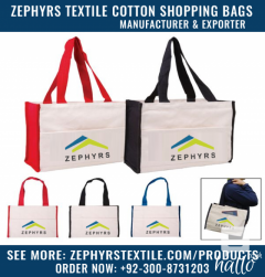Zephyrs textile is Supplying Imprinted Cotton Tote Bags