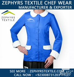 Zephyrs Textile Providning Womens Long Sleeve Chefs Ja