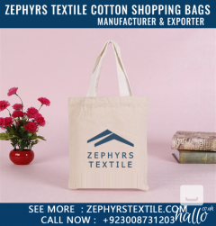 Personalize Tote Shopping Bag Natural Cotton at Zephyrs