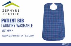 Zephyrs Textile  Patient bib laundry washable