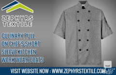 Zephyrs Textile  Culinary Pull On Chefs Short Sleeve