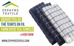 Zephyrs Textile  Serviettes De Th Teints En Fil Yarn