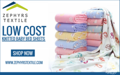 Zephyrs Textile  Low Cost Knitted Baby Bed Sheet