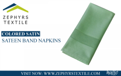 Zephyrs Textile  Colored Satin sateen band Napkins