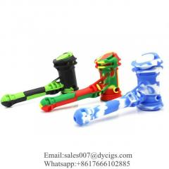 Silicone Hand Pipe Hammer Bubbler Oil Burner Pipes