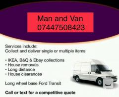 Man With A Van Removal Services Cheap East Londo