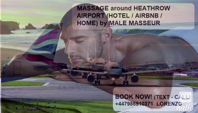 HEATHROW AIRPORT MASSAGE TO HOTEL FOR MEN by MALE Mass. 5 Image