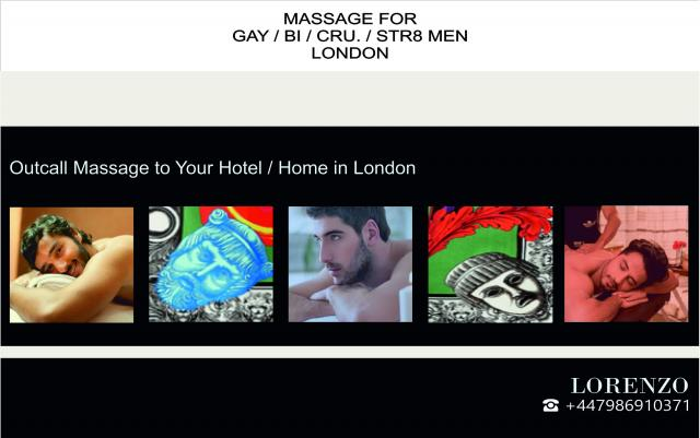 FULL-BODY MASSAGE FOR GAY-BI-STR8-CRU. OUT-CALL London 3 Image
